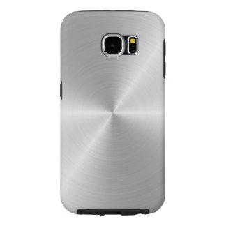 Shiny Circular Polished Metal Texture Samsung Galaxy S6 Cases