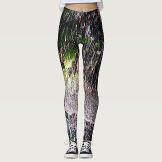 Shiny color splash leggings