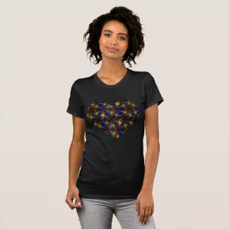 Shiny Colorful Heart T-Shirt