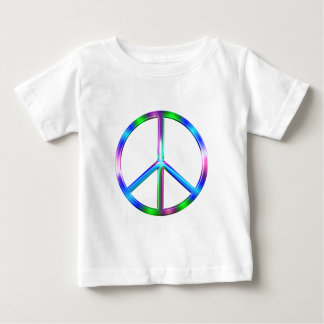 Shiny Colorful Peace Sign Baby T-Shirt
