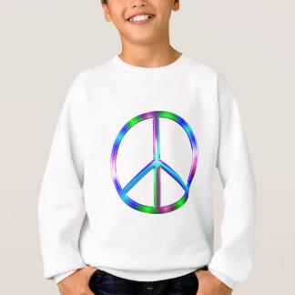 Shiny Colorful Peace Sign Sweatshirt