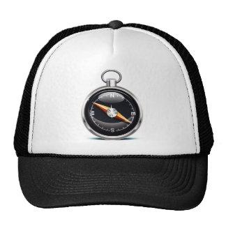 Shiny Compass Mesh Hat