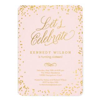 Shiny Confetti Editable Colour Party Invitation