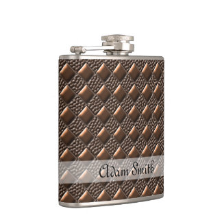 Shiny Copper Hip Flask