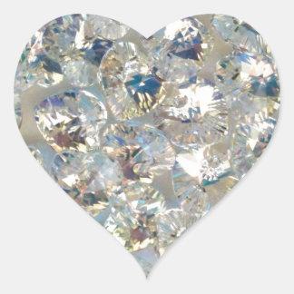 Shiny Crystals Heart Stickers