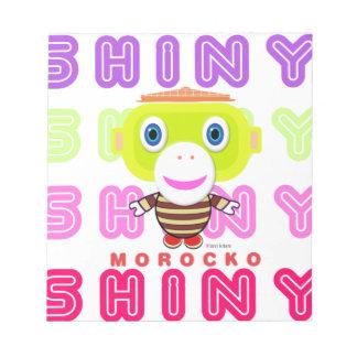 Shiny-Cute Monkey-Morocko Notepad