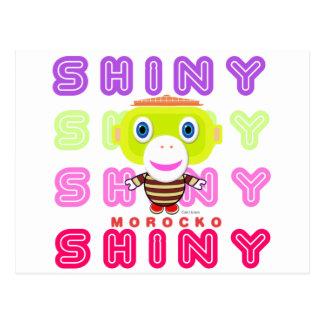 Shiny-Cute Monkey-Morocko Postcard