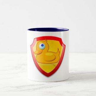 Shiny Defender Duck Two-Tone Coffee Mug