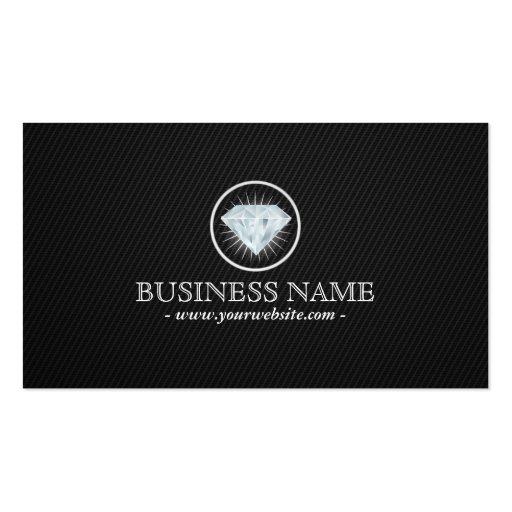 Shiny Diamond Dark Carbon Fiber Business Card