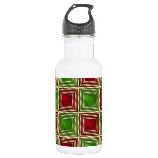 Shiny Festive Squares 532 Ml Water Bottle