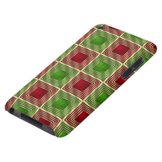 Shiny Festive Squares Barely There iPod Case
