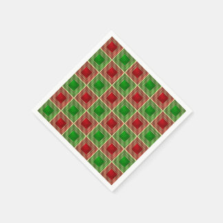 Shiny Festive Squares Disposable Napkins