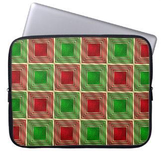 Shiny Festive Squares Laptop Sleeve
