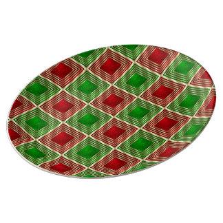 Shiny Festive Squares Plate