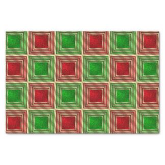 Shiny Festive Squares Tissue Paper