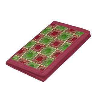 Shiny Festive Squares Tri-fold Wallet