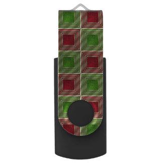 Shiny Festive Squares USB Flash Drive