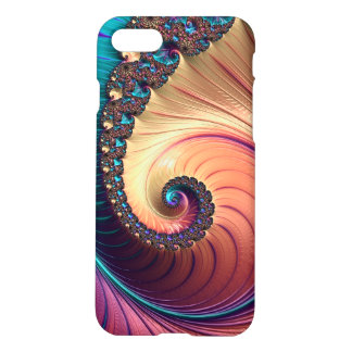 Shiny Foil Abstract Colorful Swirl Design iPhone 7 Case