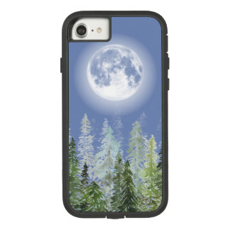 Shiny Full Moon over Nordic Fir Forest Case-Mate Tough Extreme iPhone 8/7 Case