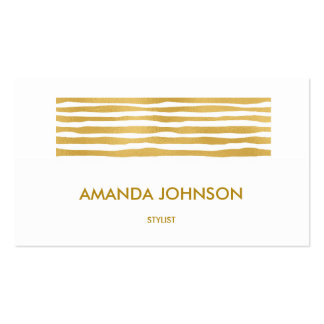 Shiny Glam Stylist Beauty Golden Stripes Vip Pack Of Standard Business Cards