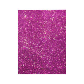 Shiny Glamour Sparkley Glitter Wood Poster