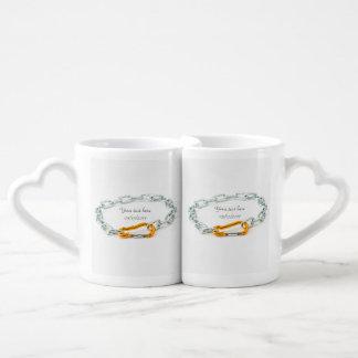 Shiny Gold and Silver Colors Chain Coffee Mug Set