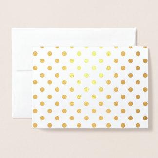 Shiny Gold Foil Polka Dots Foil Card