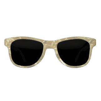 Shiny Gold Glitter Lights Sunglasses