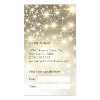 Shiny Gold Glitter Sparkles Appointment Card Pack Of Standard Business Cards