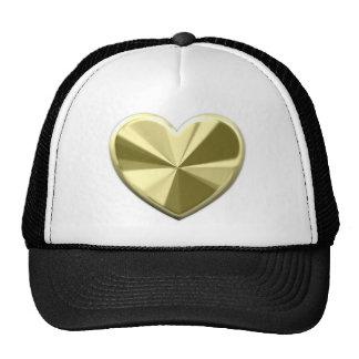 Shiny Gold Heart Cap