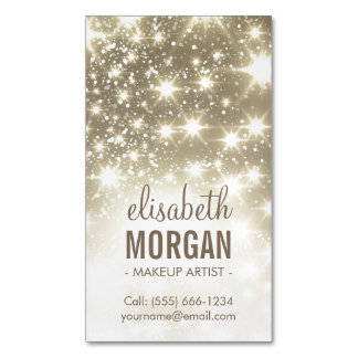 Shiny Gold Sparkles Glamours Magnetic Business Cards