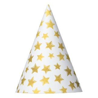 Shiny Gold Stars 2 Party Hat