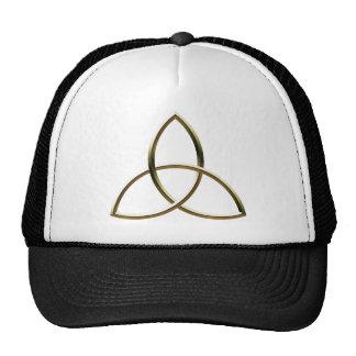 Shiny Gold Triquetra Hat