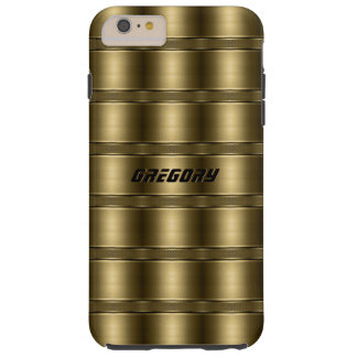 Shiny Golden Stripes Pattern Tough iPhone 6 Plus Case