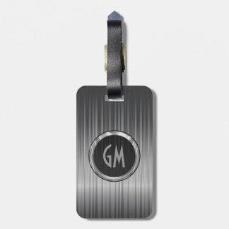 Shiny Gray  Carbon Fiber Texture Bag Tag