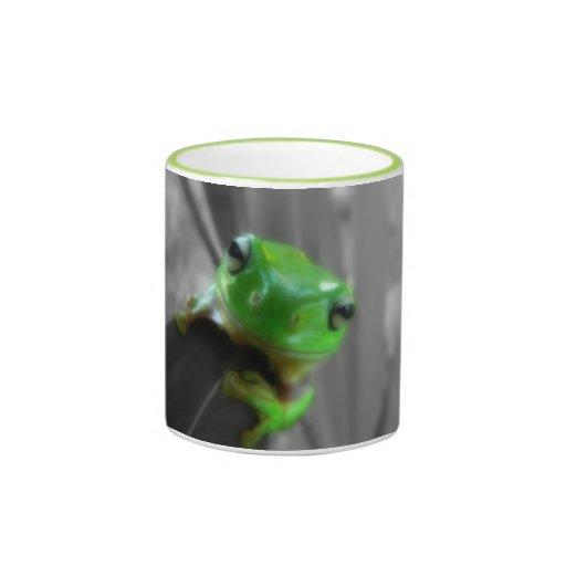 Shiny Green Frog Coffee Mug