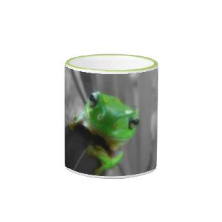 Shiny Green Frog Ringer Mug