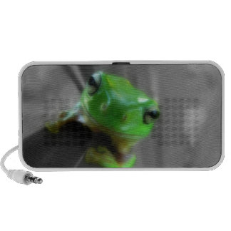 Shiny Green Frog iPod Speakers