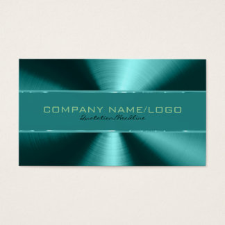 Shiny Green Metallic Design Stainless Steel Look Business Card