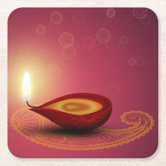 Shiny Happy Diwali Diya - Paper Coaster