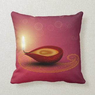 Shiny Happy Diwali Diya - Pillow