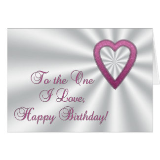 Shiny Heart Happy Birthday card