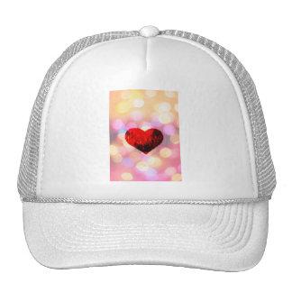 SHINY HEART MESH HAT