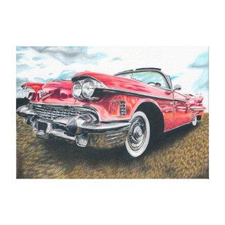 Shiny History - coloured pencil design Gallery Wrap Canvas