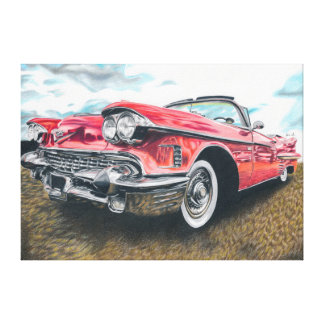 Shiny History - coloured pencil design Stretched Canvas Prints