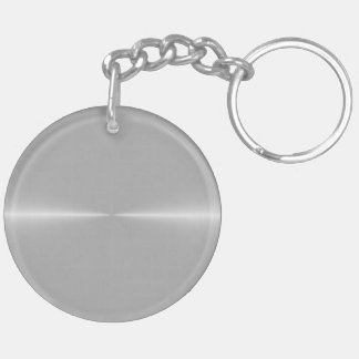 Shiny Like Steel Metal Background Template Double-Sided Round Acrylic Key Ring