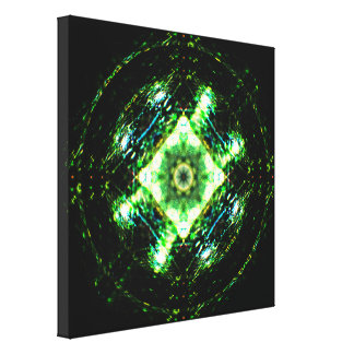 Shiny Marble Mandala Canvas Print
