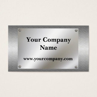 Shiny Metal Look With Screws Business Cards