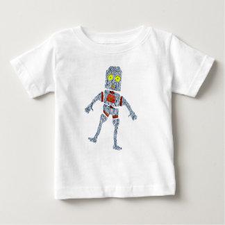 Shiny Metal Robot   Aluminum Effect Baby T-Shirt