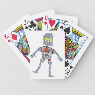 Shiny Metal Robot | Aluminum Effect Bicycle Playing Cards
